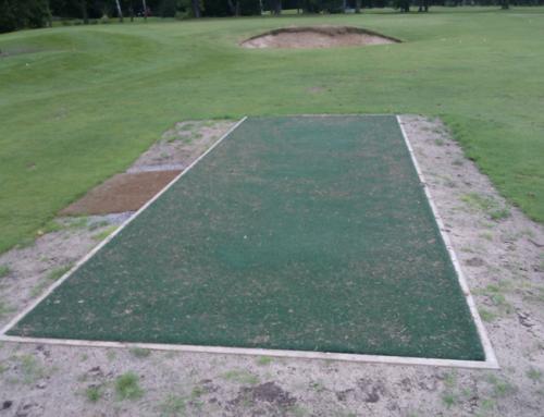 Hitting Strip at Bramhall Park Golf Club, Cheshire.